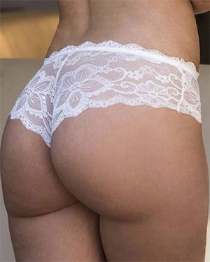 Gia Paige Perfect White Lace Bubble Butt