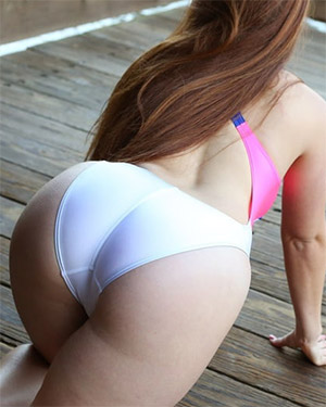 Ginger Cute Redhead Swimsuit Heaven