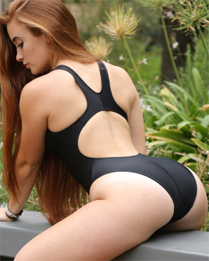 Ginger Tight Black One Piece