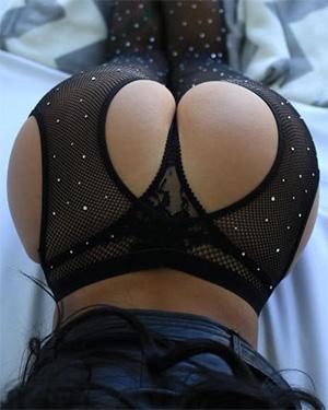 IrenaQ Bubble Butt In Fishnet Stockings