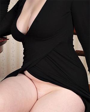 Jaye Rose Black Dress No Panties