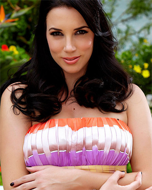 Jelena Jensen About To Take Off Her Tube Dress