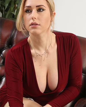 Jenny James Silk Red Dress Boobs