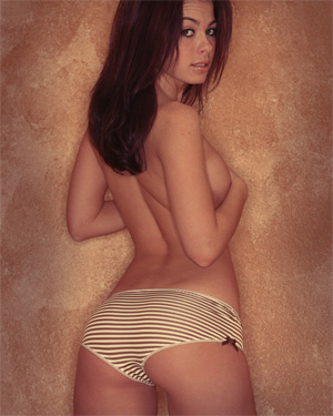 Kari Sweets Beauty In Brown Panties