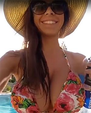 Katee Life Bounces In Her Bikini