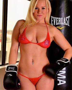 Katie Sexy Naked Boxer