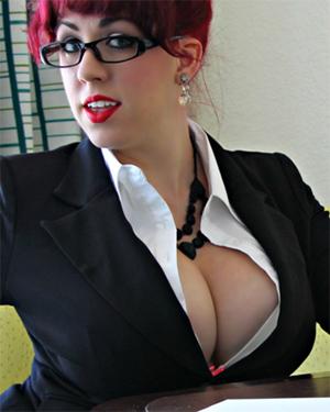Kayla Kiss Sexiest Redhead Secretary