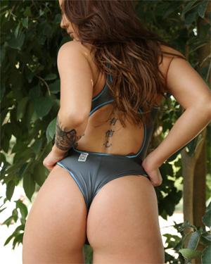 Kristin Shiny Swimsuit Ass