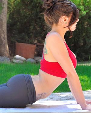 Lyanna Yoga Session