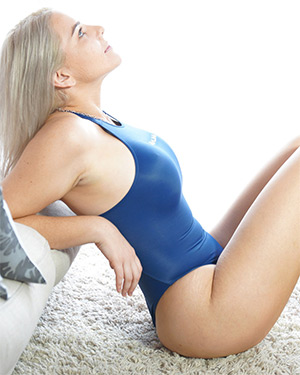 Maddie Page Tight Blue Swimsuit Heaven