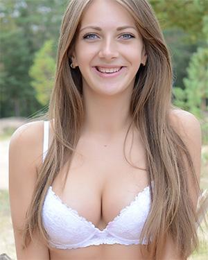 Marika Cute Outdoor Babe With Perky Tits