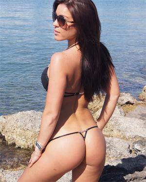 Martina Black String Bikini