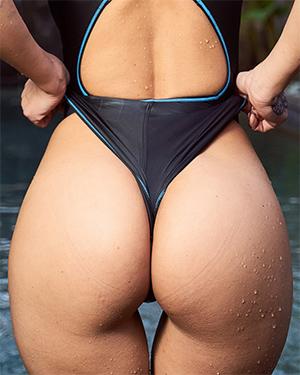 Melisa Mendini Tight Swimsuit Ass