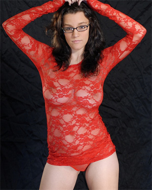 Meshell Red Sheer Boobs