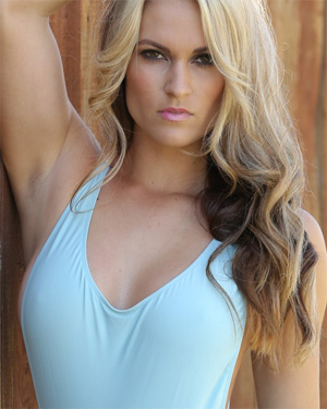 Morgan Busty Blonde Swimsuit