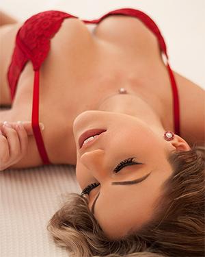 Nalu Kasmierski Is a Sexy Brazilian In Red Lingerie