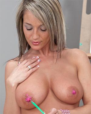 Nikki Sims Painting Boobs
