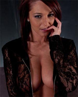 Nikki Sims See Thru Black Lace