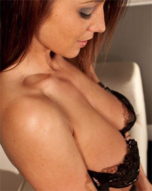 Nikki Sims Black Lacy Bra