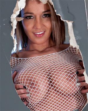 Nikki Sims Sheer Mesh Nipples