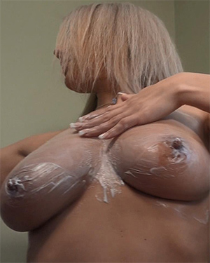 Nikki Sims Lace and Lotion Tits