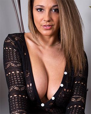 Nikki Sims Sexy Black Crochet Jumper
