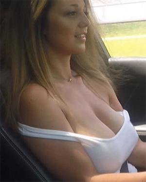 Nikki Sims Road Trip Titties