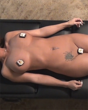 Nikki Sims Naked Sushi Video