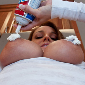 Nikki Sims Whipped Cream Boobs