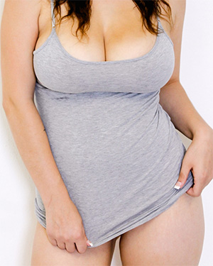 Noelle Easton Wearing Just A Tank Top