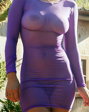 Orli Krowan See Thru Wet Dress