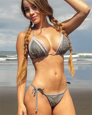 Pamela Jay Is String Bikini Posing