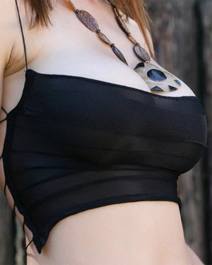 Perla Busts Out Of Her Tank Top