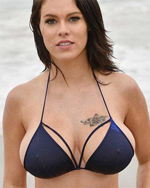 Peta Jensen Blue Bikini Boobs