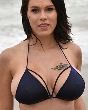 Peta Jensen Busting Out Of Her Bikini