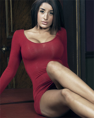 Priya Slim Red Dress Nude