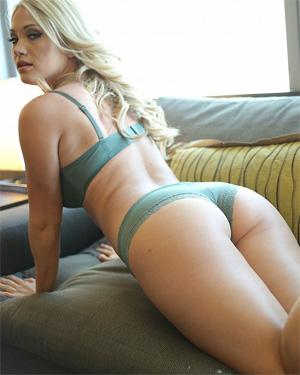 Shannyn Xo Green Lace Panties