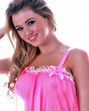 Shyla Pink Nightie Cam Girl