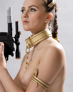 Stacy Cruz Plays The Slave Leia