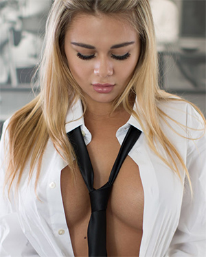 Tahlia Paris Shirt and Tie Tits