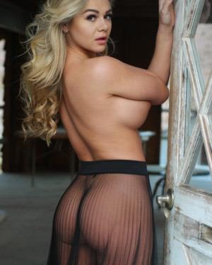 Tahlia Paris Sheer Skirt Nudes