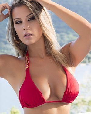 Vanessa Vailatti Sexy Brazilian Red Bikini