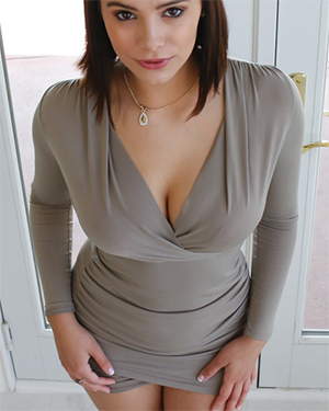 Violet Wears A Cleavage Dress
